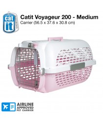 Catit Voyageur 200/ Pet Carrier - Pink & White